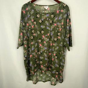 LuLaRoe Disney Minnie Floral Irma Shirt 3XL